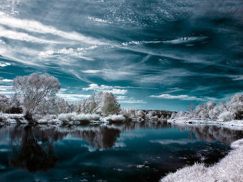 Красивые фото зима, зимний пейзаж, фотообои зима